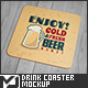 Drink Coaster Mock-Up - GraphicRiver Item for Sale