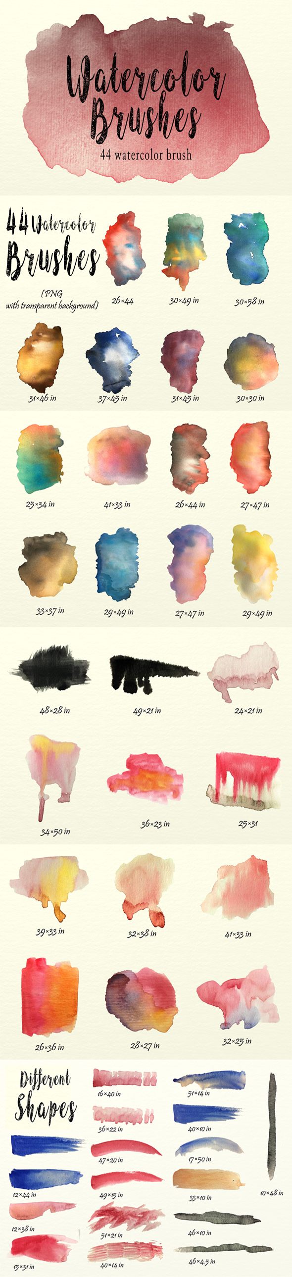 GraphicRiver Watercolor Brushes Pack 20391327
