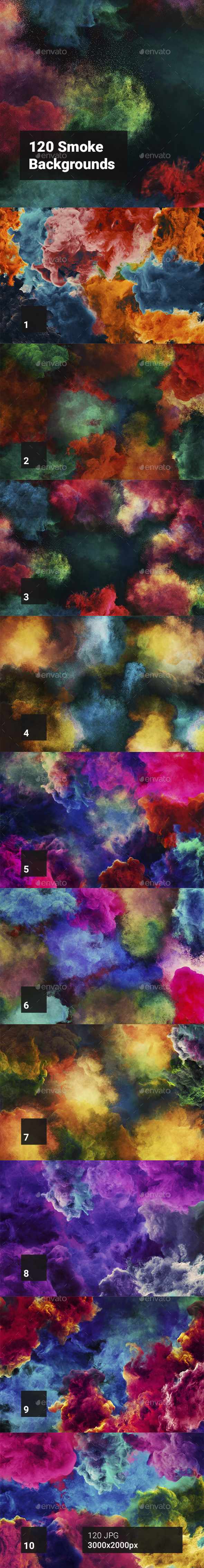 120 Smoke Backgrounds - Abstract Backgrounds