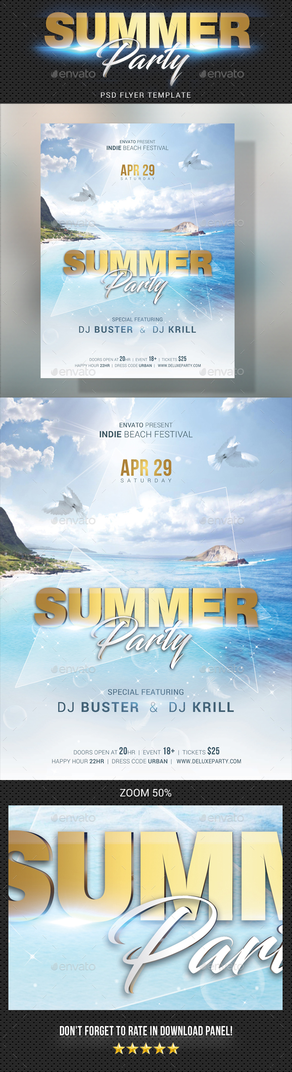 Summer Dj Party Flyer - Clubs & Parties Events