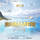 Summer Dj Party Flyer - GraphicRiver Item for Sale