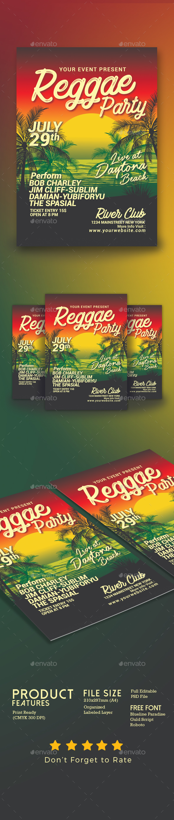 Reggae Music Beach Party - Clubs & Parties Events