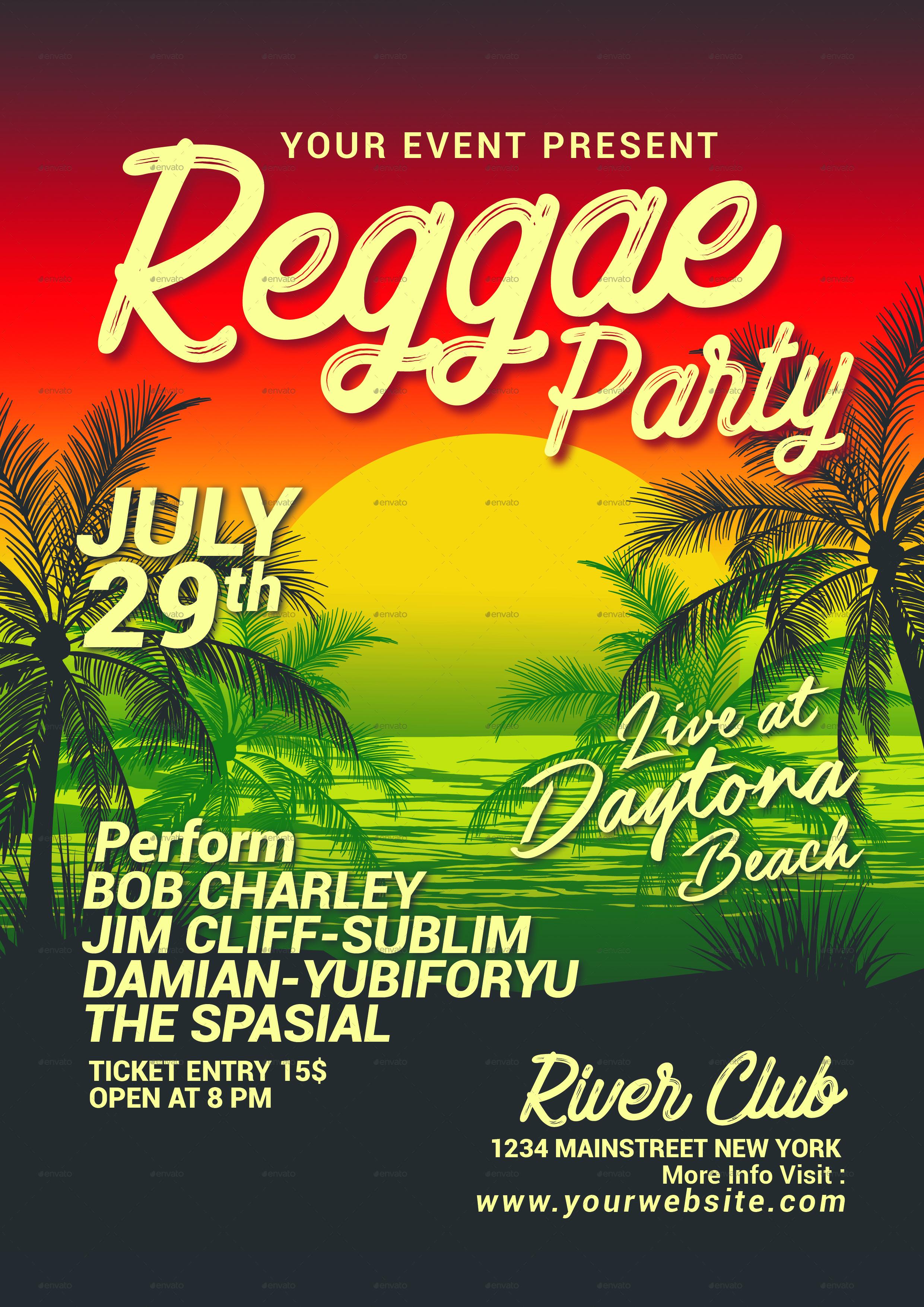 reggae music beach party by muhamadiqbalhidayat