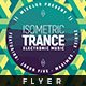 Isometric Trance - Flyer Template