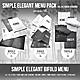 Simple Elegant Menu Pack (Bifold - Trifold - Single) - 2 Color Versions - GraphicRiver Item for Sale