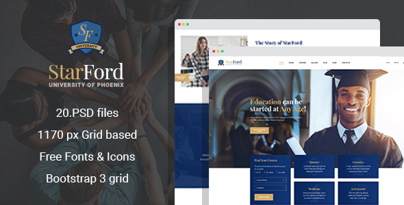 StarFord - University/Educational Establishment PSD Template