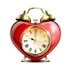 Metal Retro Style Alarm Clock in Heart Form - GraphicRiver Item for Sale