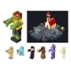 Halloween Monsters Icons Set Curse Evil Flat