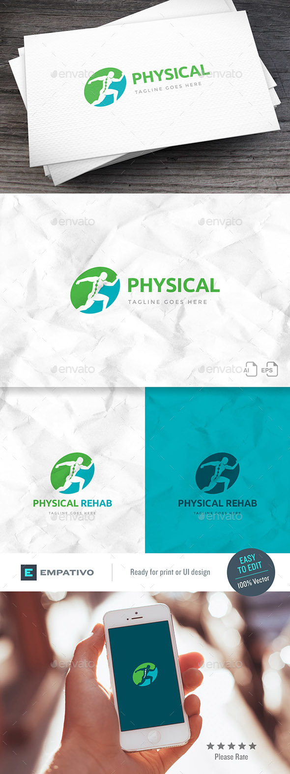Physical Rehab Logo Template - Humans Logo Templates