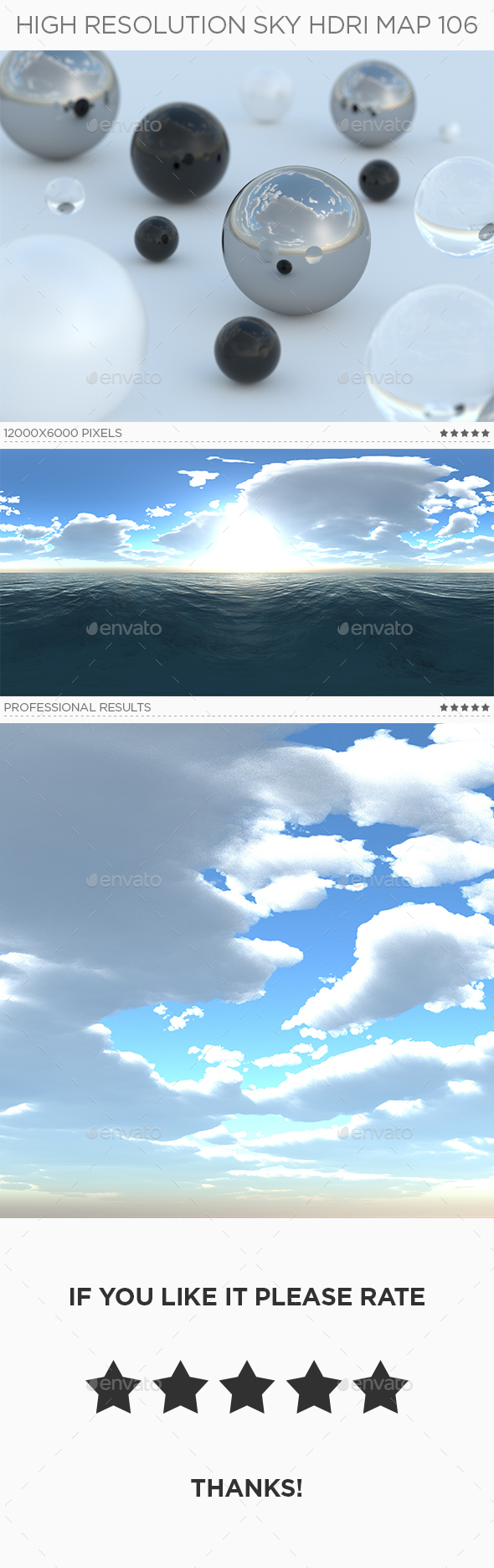 3DOcean High Resolution Sky HDRi Map 106 20391735