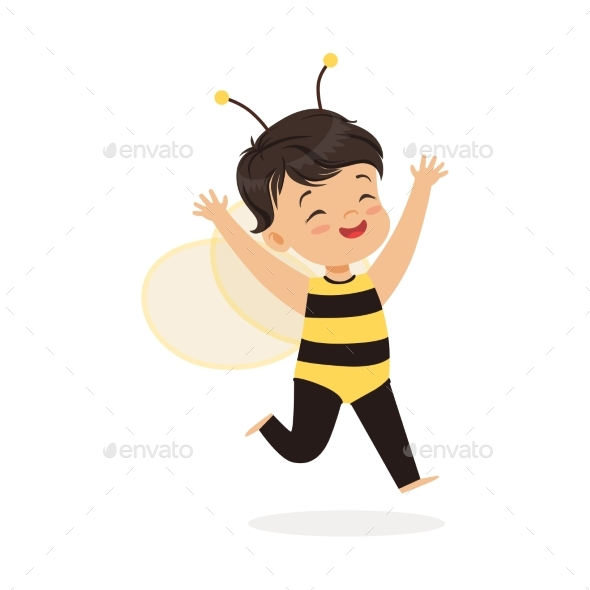 Little Girl Dressed as a Bee - Animals Characters