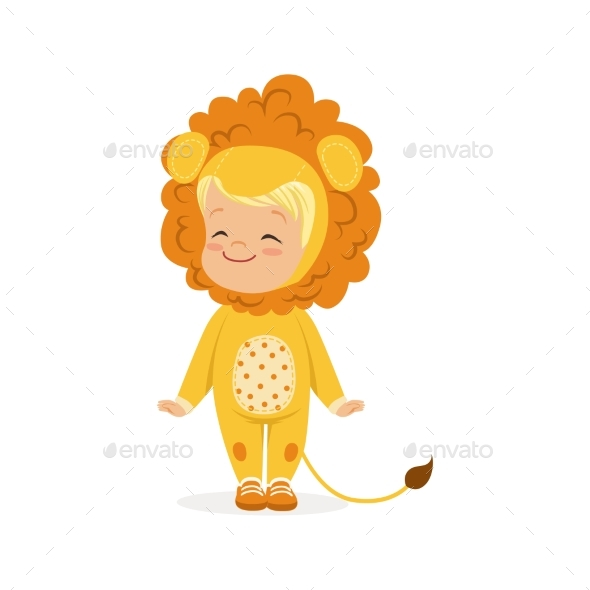 Little Boy Dressed As a Lion Cub - Animals Characters