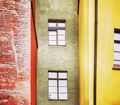 Retro stylized picture of an old house facade - PhotoDune Item for Sale
