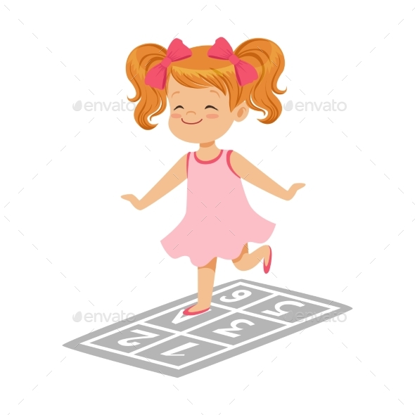 Girl in a Pink Dress Playing - Sports/Activity Conceptual