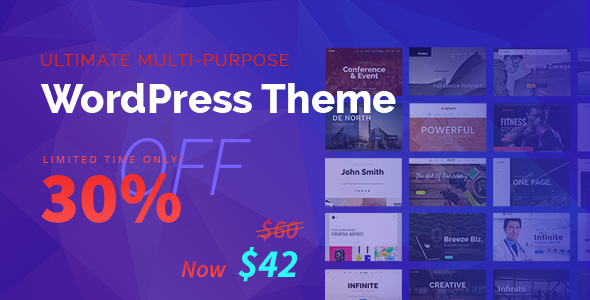 Infinite - Responsive Multi-Purpose WordPress Theme - Corporate WordPress