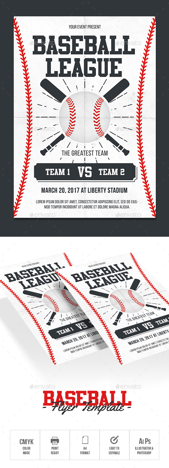 GraphicRiver Baseball Flyer Template 20391940