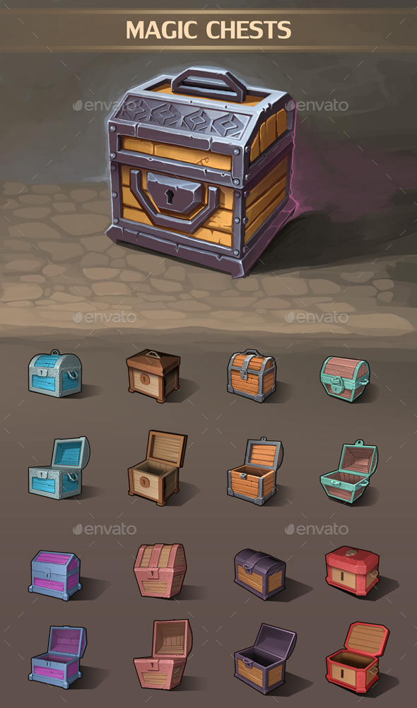 Magic Chests - Miscellaneous Game Assets