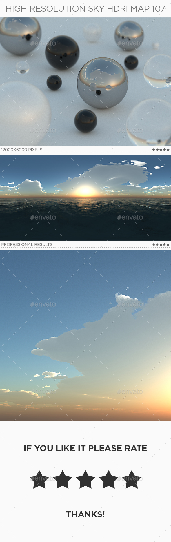 3DOcean High Resolution Sky HDRi Map 107 20392169