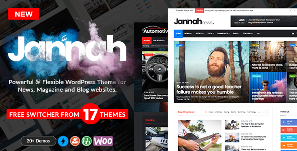 Jannah - WordPress News Magazine Blog & BuddyPress Theme