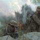 Men Sniping on Battlefield