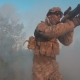 Soldier Run Through Smoke - VideoHive Item for Sale