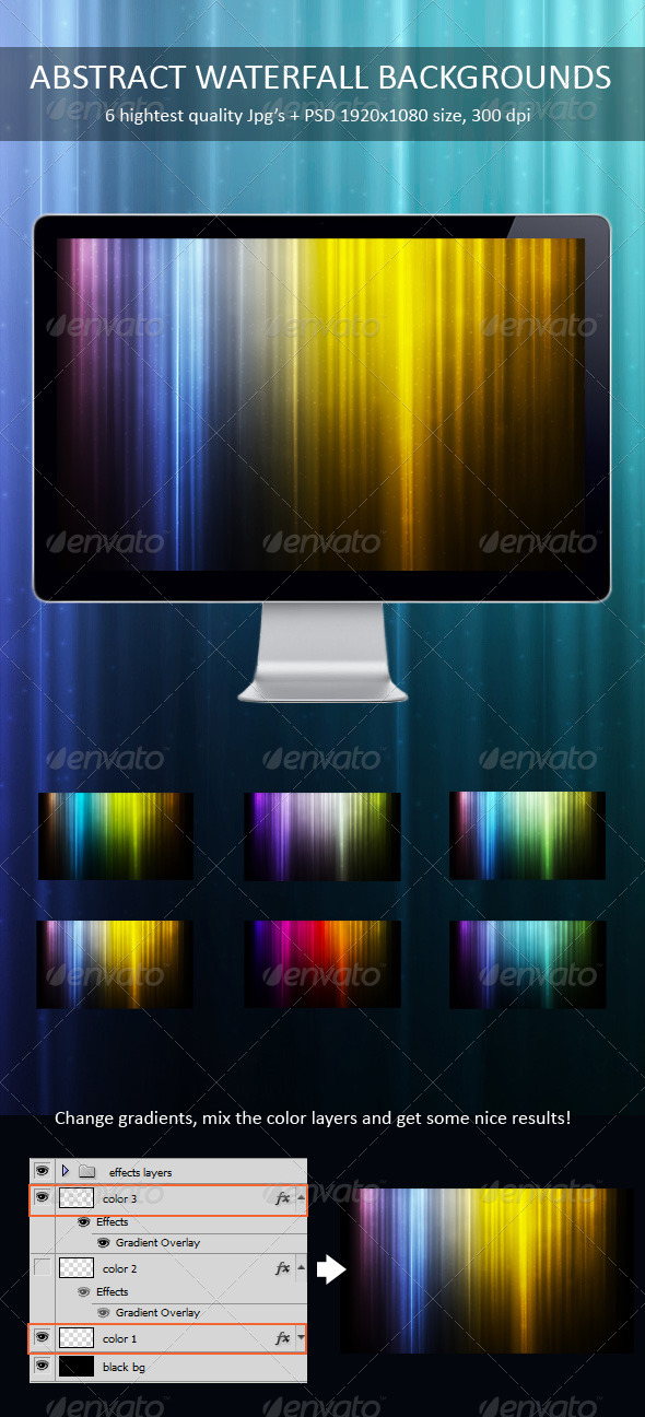 Abstract Waterfall Backgrounds - Backgrounds Graphics