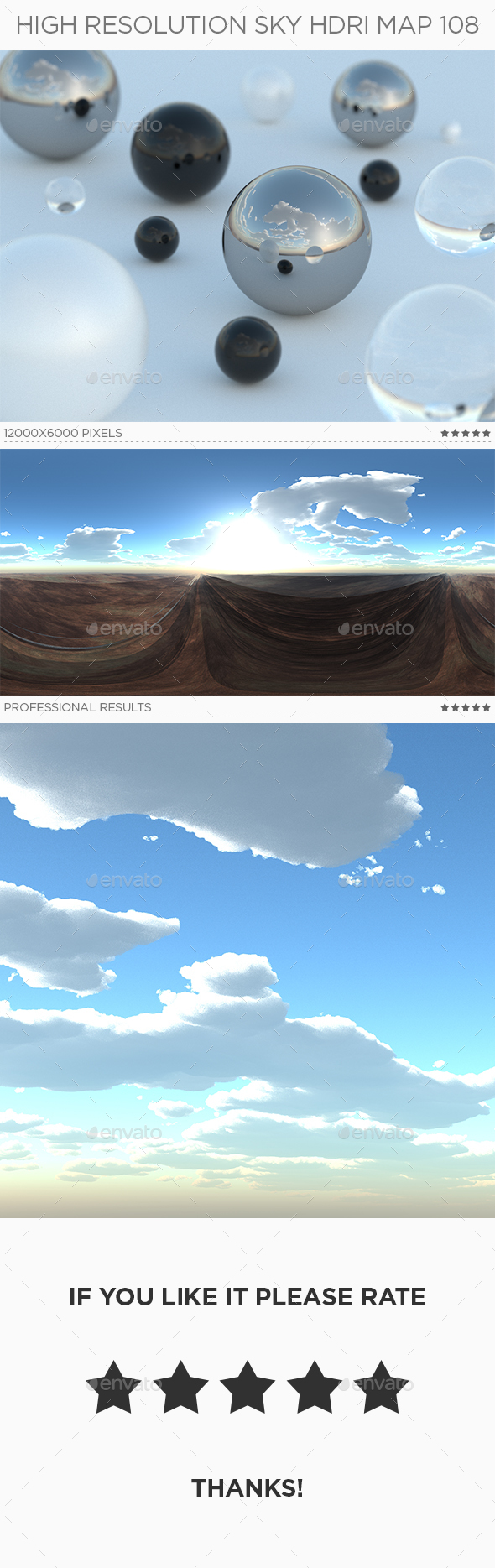High Resolution Sky HDRi Map 108 - 3DOcean Item for Sale