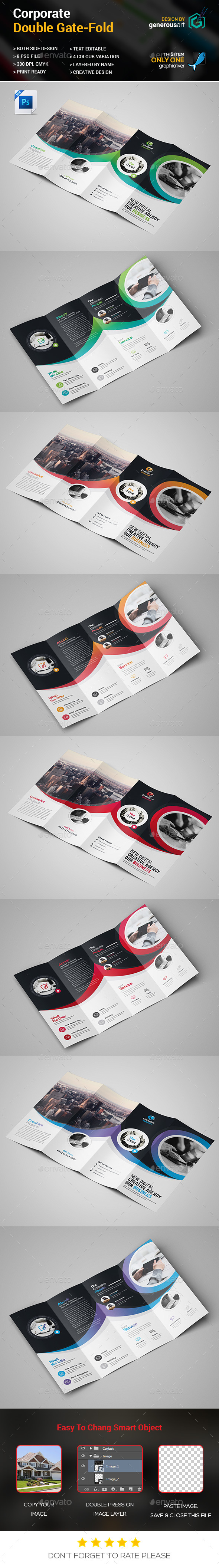 Double Gate-fold - Brochures Print Templates