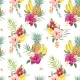 Watercolor Tropical Pattern - GraphicRiver Item for Sale
