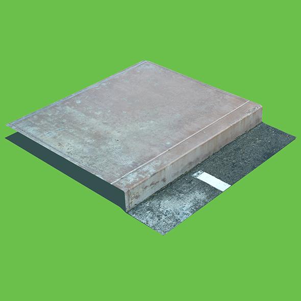 Concrete Sidewalk Curb - 3DOcean Item for Sale