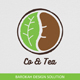 Co & Tea Logo template