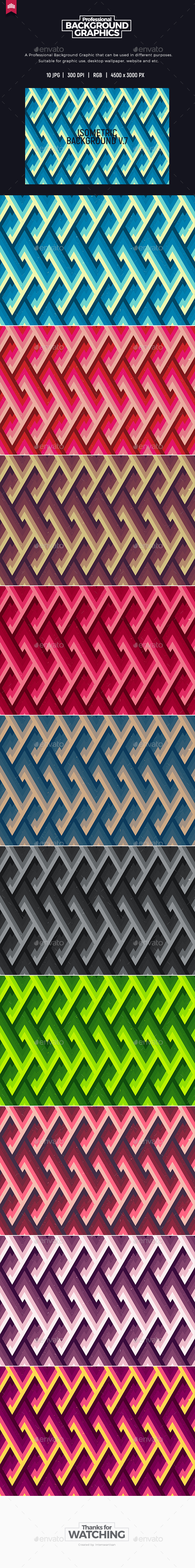 Isometric Background V.7 - Abstract Backgrounds