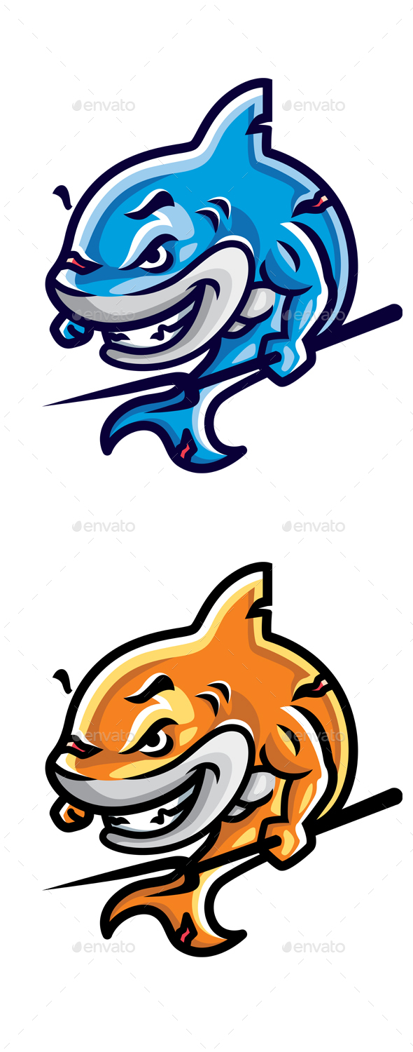 GraphicRiver Cartoon Shark 20392655