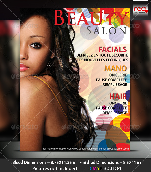 Beauty Salon Poster/Flyer Template - Clubs & Parties Events