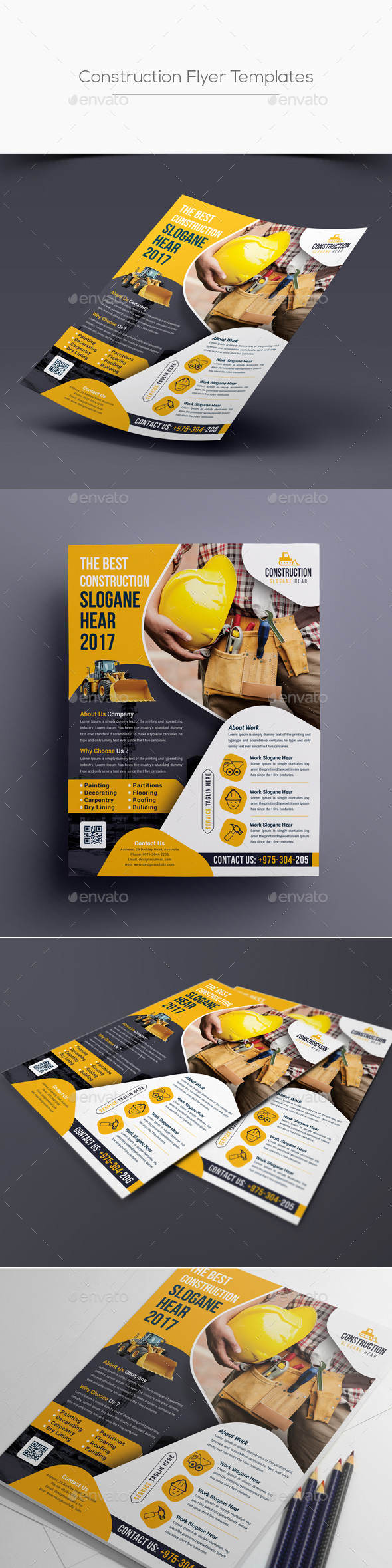 GraphicRiver Construction Flyer Template 20392887