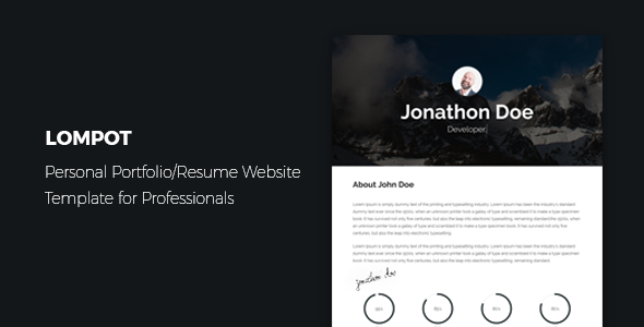 Lompot - Personal Portfolio/Resume Website Template for Professionals