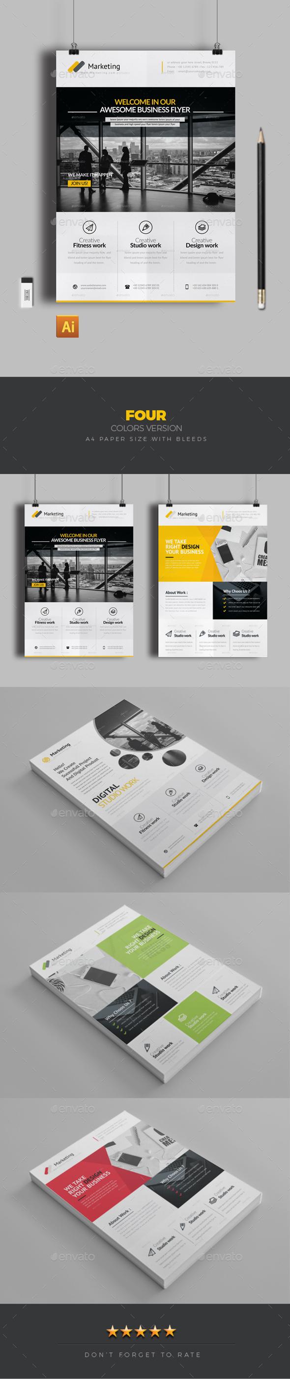 GraphicRiver Flyer Bundle 20393068
