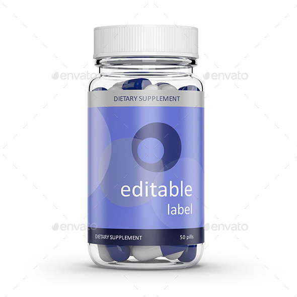 GraphicRiver Pill bottle Transparent & Opaque 20377413