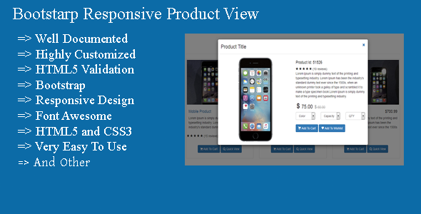 Download Bootstarp Responsive Product View