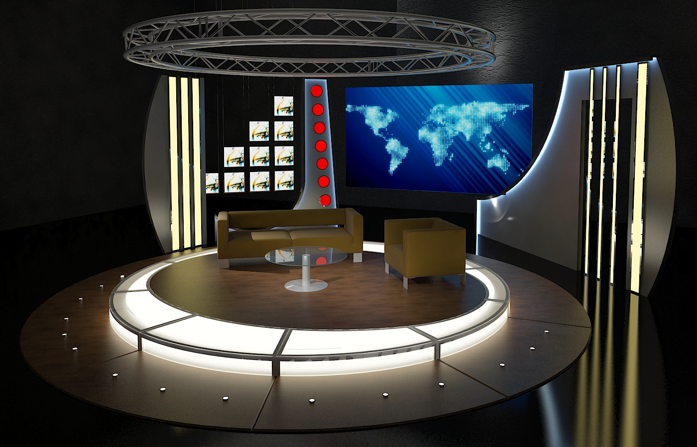 Virtual Tv Studio Chat Sets Collection 8 By Canan85 3docean