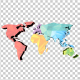 Low Poly Earth Map - VideoHive Item for Sale