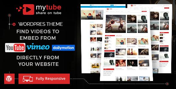 ThemeForest MyTube Video WordPress Theme 19924545