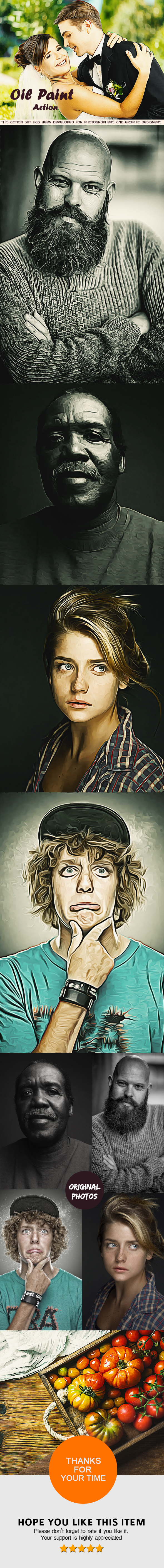 Oil Paint  Action - Photoshop Action - Photoshop Add-ons