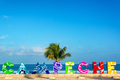 Campeche Sign and Sea View - PhotoDune Item for Sale