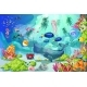 Cartoon Colorful Marine Underwater Life Background