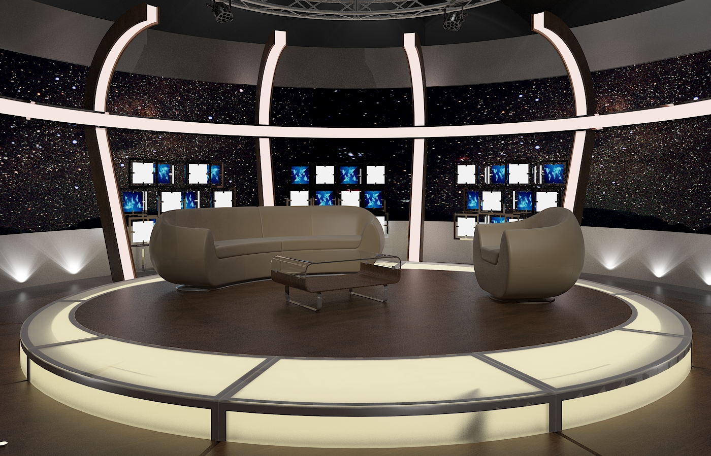 Virtual TV Studio Chat Sets Collection 10 by canan85 3DOcean