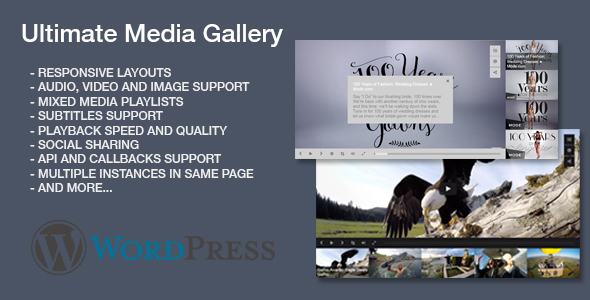 Ultimate Media Gallery Wordpress Plugin - CodeCanyon Item for Sale