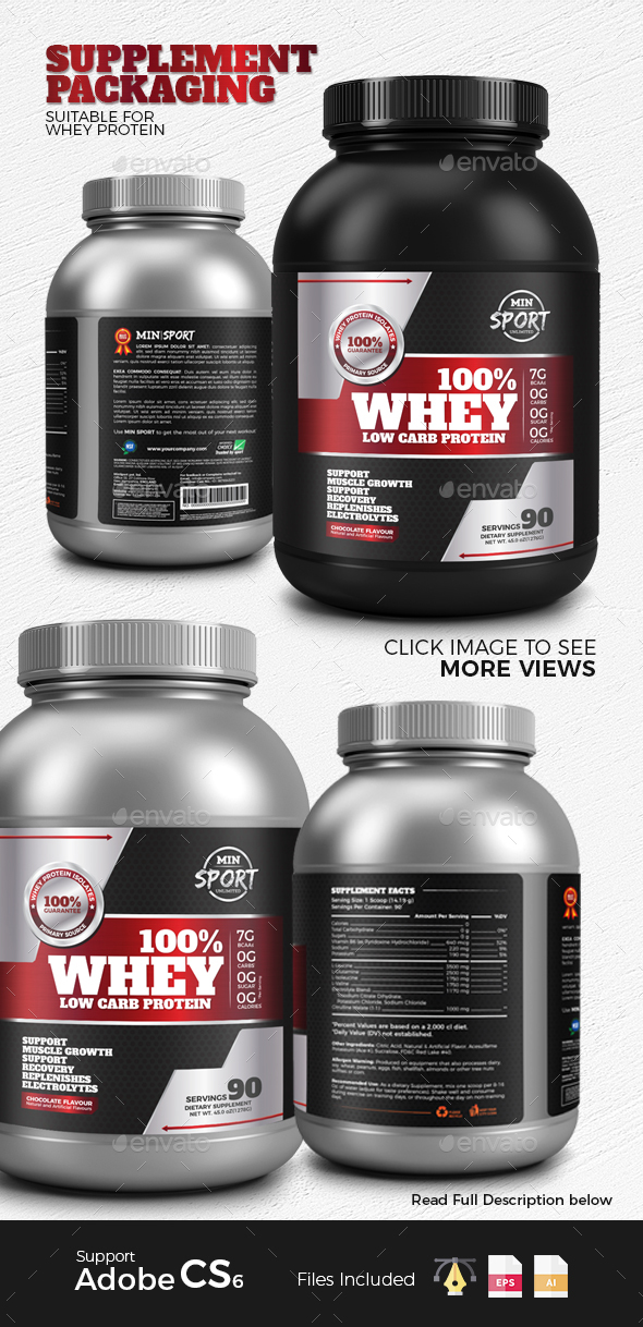 Supplement Packaging - Packaging Print Templates