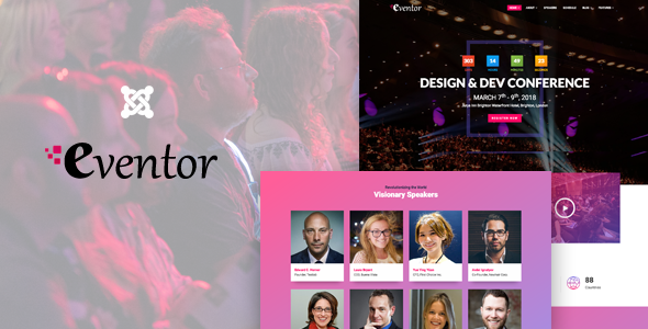 ThemeForest Eventor Conference & Event Joomla Template 20293870