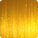 Golden Glitter Particles Background - 2 Clips